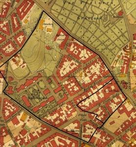Meyerløkka i 1902 etter tegninger av arkitekt Carl Michalsen.