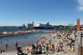 Sørenga Sjøbad og Havnepromenaden anbefales